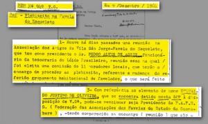 Documentos analisado pela Comissão Estadual da Verdade do Rio de Janeiro (CEV-Rio) - Reprodução / APERJ